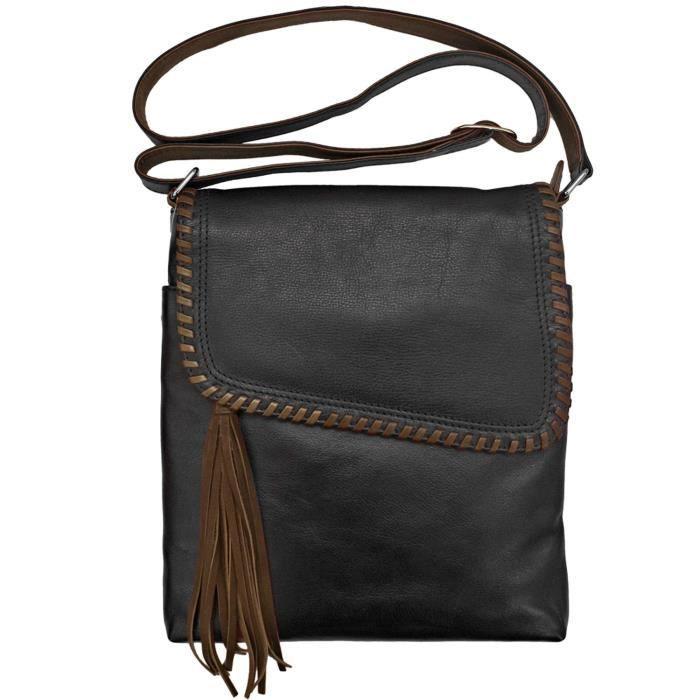 Leather Whipstitch Handbag G70UW
