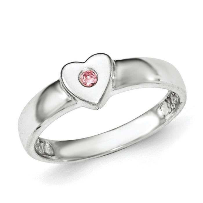 CZ-Coeur-Argent 925/1000 poli-Taille 1/2–N
