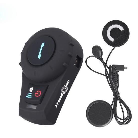 D'origine Freedconn Marque 500 M Bt Interphone Moto Casque Avec Radio Fm