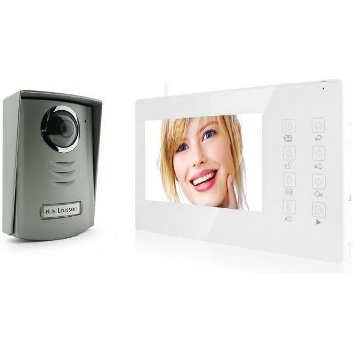 avidsen interphone vidéo couleur sans fil 7 pouces - achat / vente
