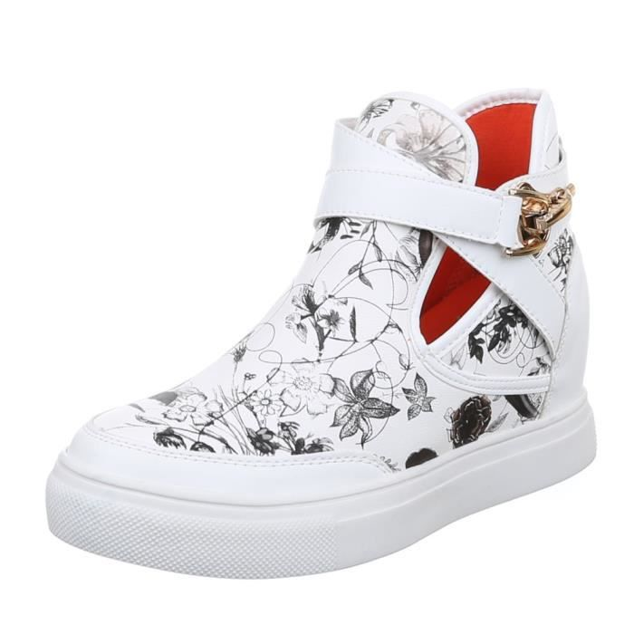 Femme chaussures loisirs chaussures Sneakers blanc 40 QLSnNMwU