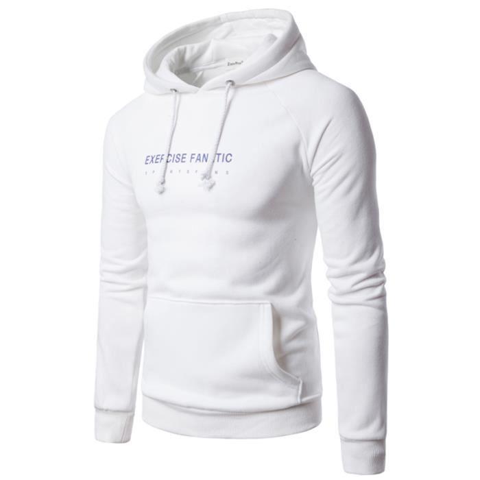meilleur endroit achat le plus récent vente usa en ligne Pull à capuche homme simple mode décontracté chaud manches ...