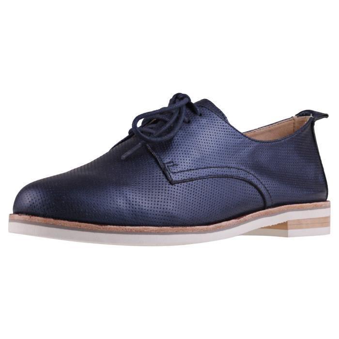 Caprice Oxford Metallic Peralto Femmes Chaussures Marine - 6.5 UK 5I0CLMUW9