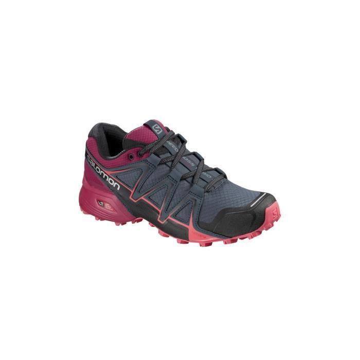 Détails sur Femmes Salomon Chaussures Trail XA Enduro Cheville Baskets Route Running Violet