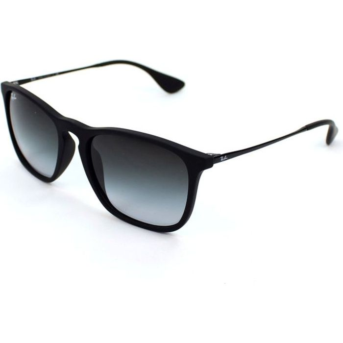 RAY BAN Lunettes de soleil Homme Modèle RB4187 - Catégorie 3 - Noir mat -  Verres gris dégradés 93774e7e4c88