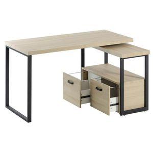 bureau d 39 angle bois achat vente pas cher soldes d s le 10 janvier cdiscount. Black Bedroom Furniture Sets. Home Design Ideas