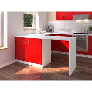 Ilot cuisine rouge achat vente ilot cuisine rouge pas cher cdiscount - Cuisine rouge ilot central ...