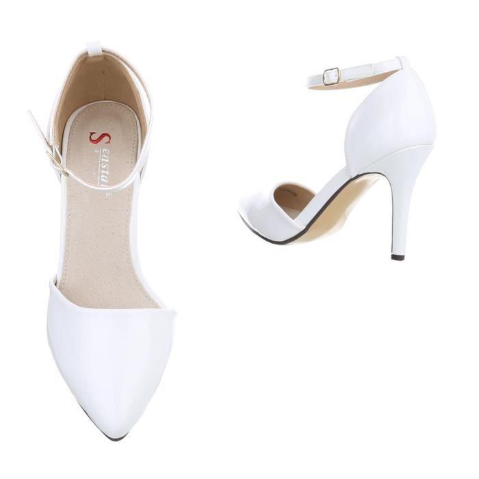 femmes chaussures escarpin High Heels blanc 35