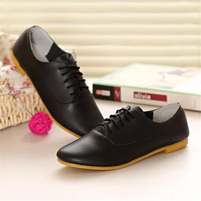 Ballerine Femmes Ultra Leger Comfortable Chaussure BGD-XZ040Blanc35