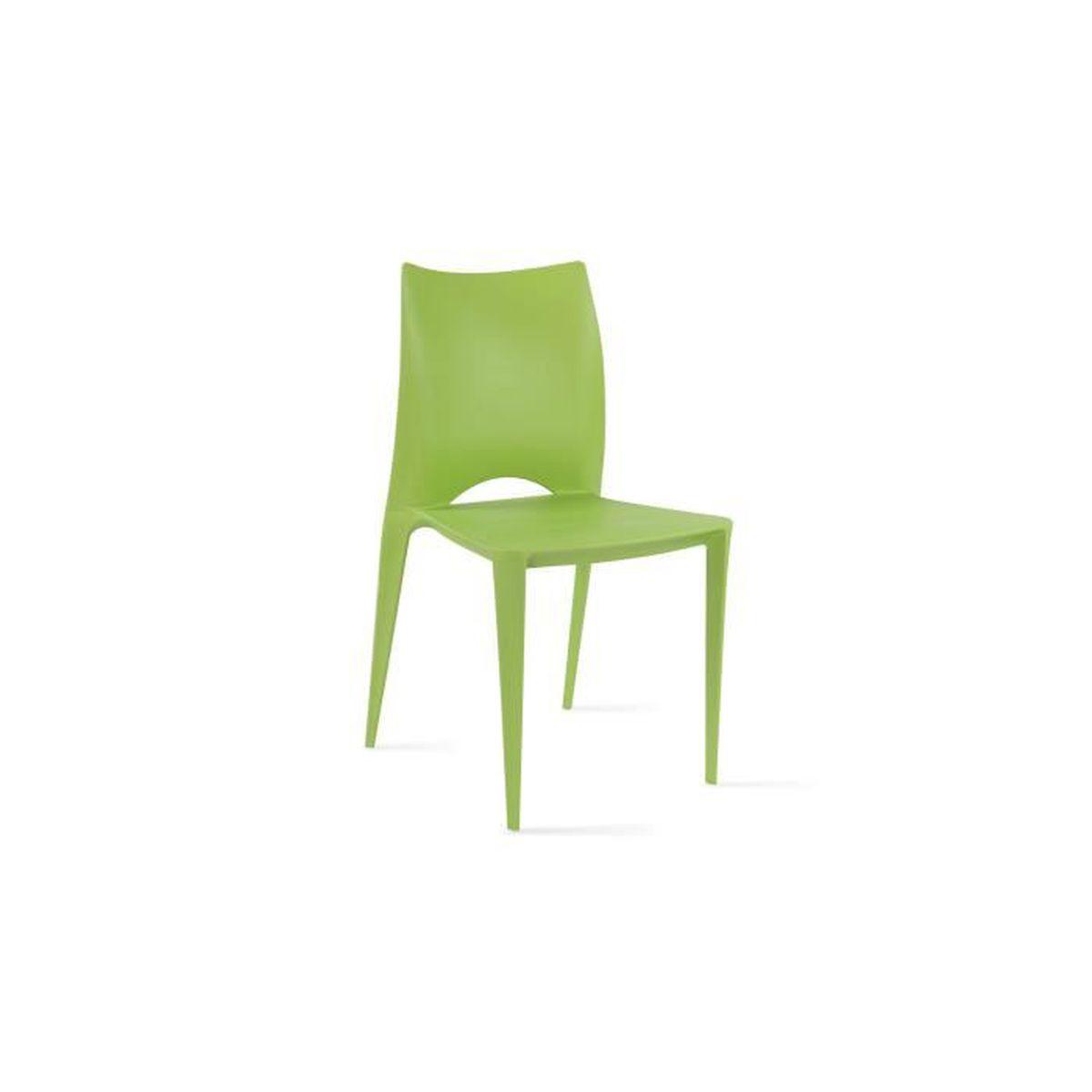 Chaise de jardin en plastique Vert - Achat / Vente salon de jardin ...