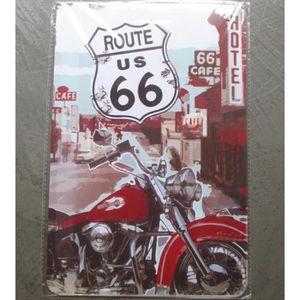 Tableau moto route 66 achat vente tableau moto route for Deco murale route 66