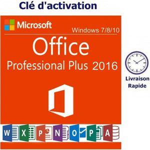 BUREAUTIQUE À TÉLÉCHARGER Microsoft Office 2016 professionnel Pro Plus Franç