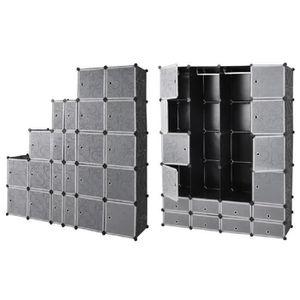 armoire modulable en plastique achat vente armoire. Black Bedroom Furniture Sets. Home Design Ideas