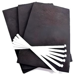 FILTRE POUR HOTTE Lot de 3 filtres charbon (avec tiges de fixation)