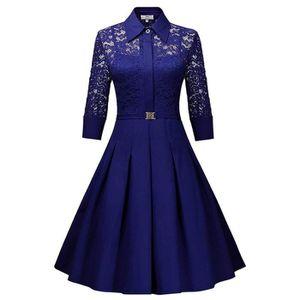 robe de soiree bleu roi achat vente pas cher. Black Bedroom Furniture Sets. Home Design Ideas