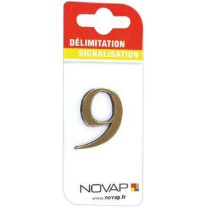 CONE - RUBAN CHANTIER Adhésif plastique en relief coloris or Novap - 9