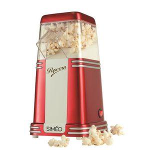 MACHINE À POP-CORN ÉLEC SIMEO FC125 Machine à popcorn vintage - Rouge