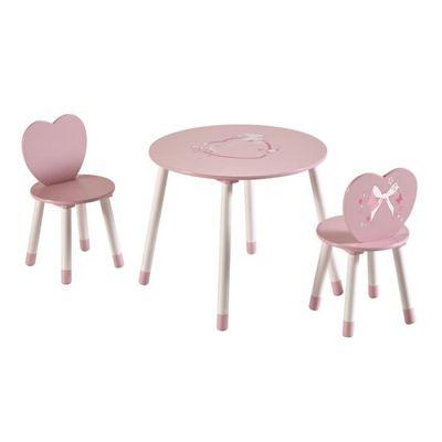 Table Et Chaise Petite Fille ensemble table + 2 chaises carmen rose - achat / vente chaise rose