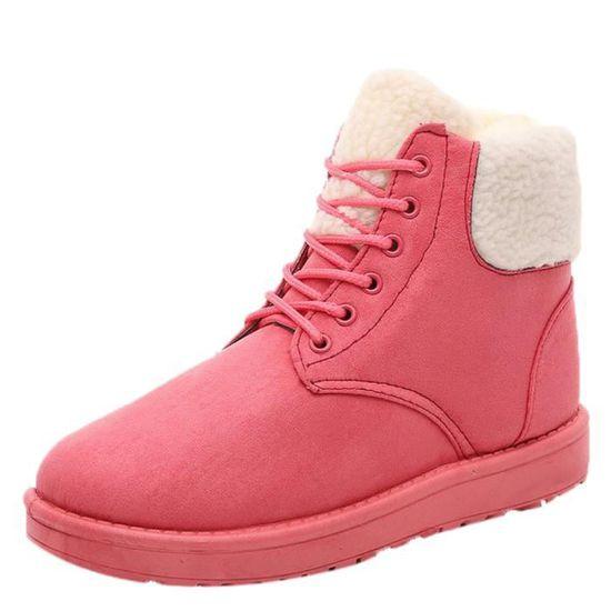 beff6afd457 À Classique 5964 Semelle Neige Peluche Femmes Intérieure Lacets D hiver  Bottes Chaussures Boot Bottines Chaud ...