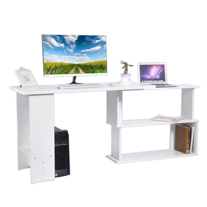 meuble informatique bureau dordinateur table de pc bibliothque - Meuble D Angle Ordinateur