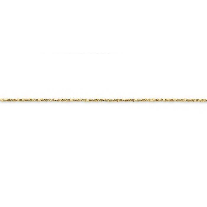 D-Cut massif 14 carats 1,2 mm Mousquetons corde chaîne collier - 16 cm