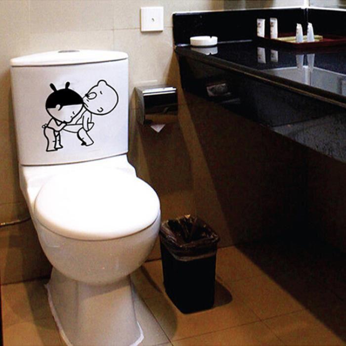 Enfants Stickers muraux Décoration toilettes Coincé salle de bains