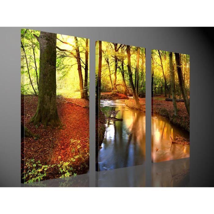 tableau moderne imprim 233 130x80 nature achat vente tableau toile toile bois cdiscount