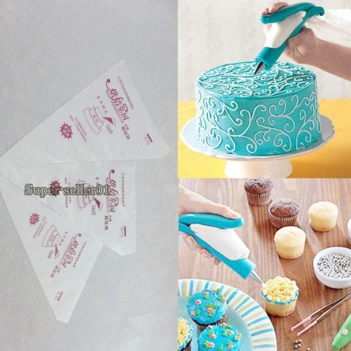 Sac /à p/âtisserie r/éutilisable en cr/ème pour Soda /à glacer en Coton Bags Sacs /à p/âtisserie avec d/écoration de Dessert