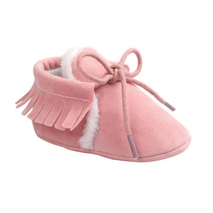 56e77824c0047 EOZY Chaussons Pantoufles Pour Bébé Enfant Marche Antidérapant Chaud Souple