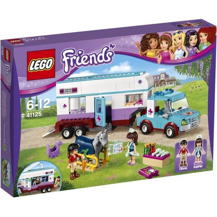 Bien connu LEGO® Friends 41125 La Remorque à Chevaux du Vétérinaire - Achat  PE26