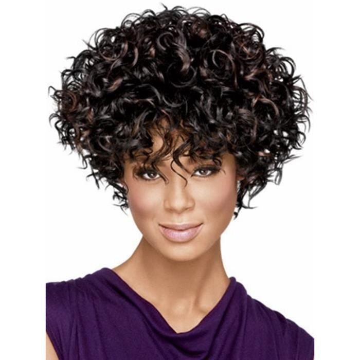 Perruque Afro Curl naturelles Mode perruque