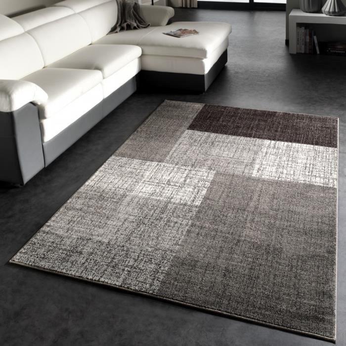 tapis tapis moderne gris 120x170 cm - Tapis Moderne