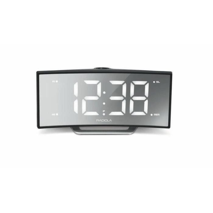 Radiola Ra350acl Radio Réveil Avec Projection De L'heure - Double Alarme Grand Affichage