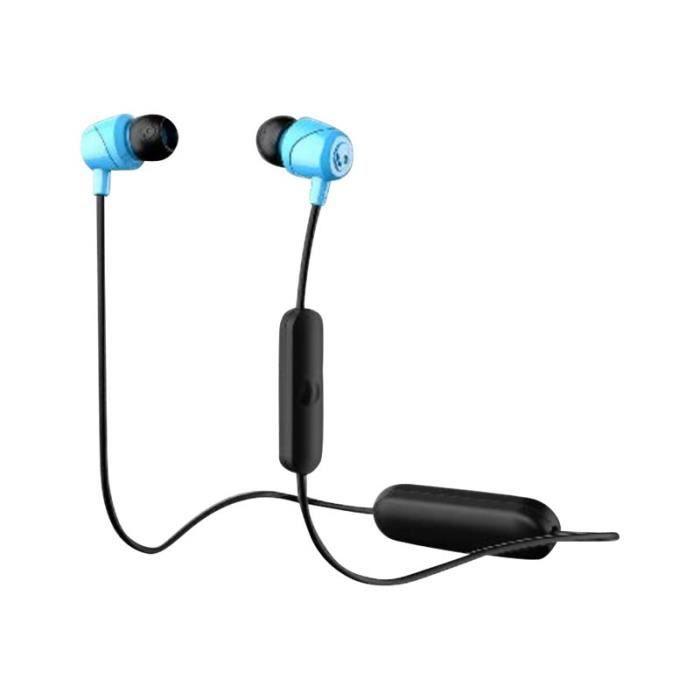 Skullcandy Jib Wireless Écouteurs Avec Micro Intra-auriculaire Bluetooth Sans Fil Isolation Acoustique Noir, Bleu