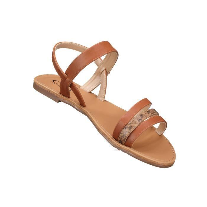 Sandales femme C M 8839-244 Camel