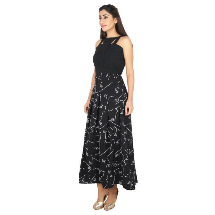 Robe longue imprimée de femmes 1AK9P9 Taille-34