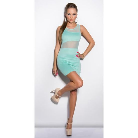 2d2468ad8d8 Robe sexy droite moulante glamour vert menthe M L - Achat   Vente robe  0333798456125 - Cdiscount