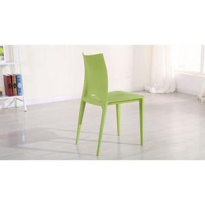 Chaise de jardin plastique vert - Achat / Vente Chaise de jardin ...