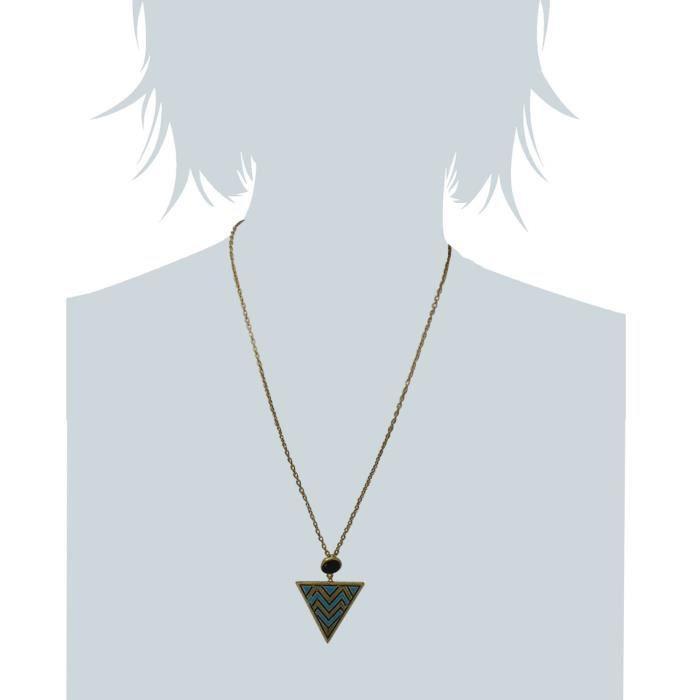 Collier pendentif tribal bleu de femmes pour Jfnd0478 WRE3F