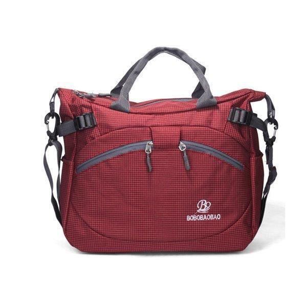 SBBKO3536Femmes hommes en plein air sacs à main en nylon sacs à bandoulière imperméable occasionnels Crossbody Rose rouge
