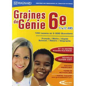 CULTURE GRAINES DE GENIE : 6EME