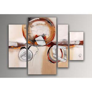 TABLEAU - TOILE Abstrait tableau modern peint à la main sur toile