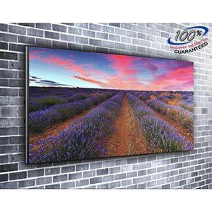 TABLEAU - TOILE Lavender Field et ciel coucher de soleil Nature to