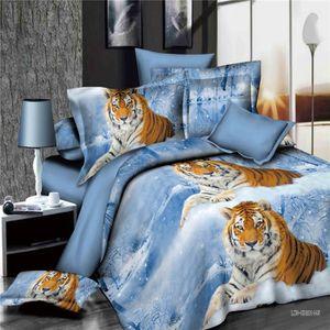parure de lit tigre achat vente parure de lit tigre pas cher cdiscount. Black Bedroom Furniture Sets. Home Design Ideas