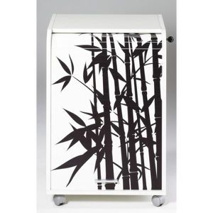 CAISSON DE BUREAU  Caisson de bureau 2 tiroirs Contemporain Blanc imp