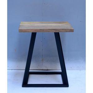 TABLE À MANGER SEULE Tabouret style industriel 40x40x45cm ou meuble d'a