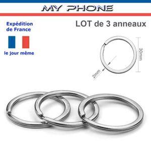 différemment achat authentique vente pas cher LOT de 3 ANNEAUX porte clés diamètre 30 mm couleur Argent ...