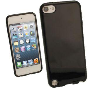 COQUE MP3-MP4 igadgitz Noir Étui TPU Brilliant pour Apple iPod T