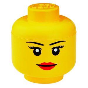 PETIT RANGEMENT  LEGO Tête de Rangements Fille Taille S