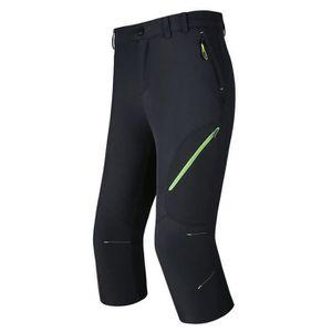 Pantacourt de Sport Femme Extérieur Imperméable Straight Fit Stretch  Pantalon Court Respirant Couleur Unie bfa52c25fea